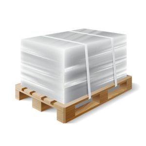 Pallet shipping shrink wrapped